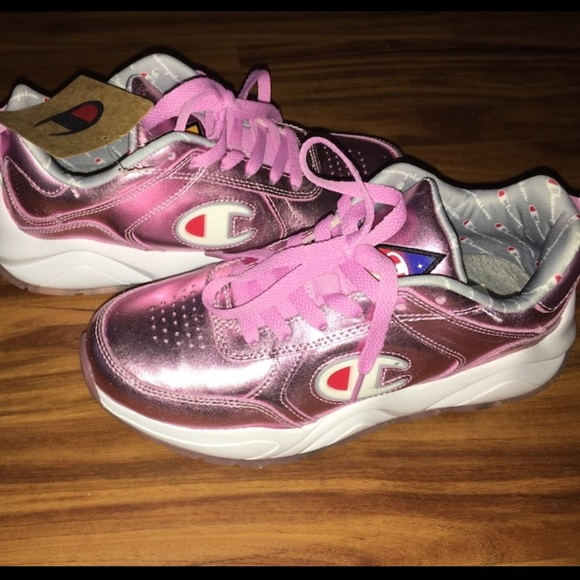 93eighteen Champion Shoes Metallic Pink